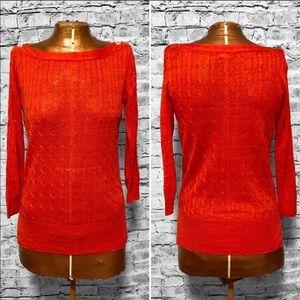 J. Crew Linen Cable-Knit Sweater EUC
